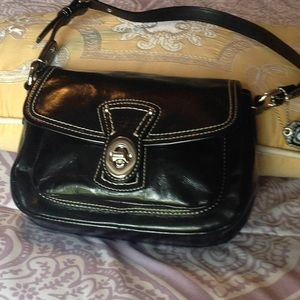 COACH -small black patent leather purse.